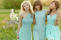 Loveeee the color for an outdoor wedding bridesmaid s