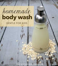 Homemade Body Wash with Essential Oils - FiveSpotGreenLiving.com