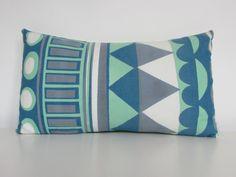 Screen Printed Handmade Rectangular Cushion by GeometricRamblings, Sacred Geometry, Mother Nature, Screen Printing, Cushions, Textiles, Interiors, Throw Pillows, Shapes, Printed