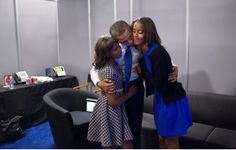 #44th #President #POTUS Of The United States  Of America #CommanderInChief #BarackObama #FirstDaughters Of The United States  Of America Malia Obama and Sasha Obama September 6, 2012 Backstage at the Democratic National Convention.