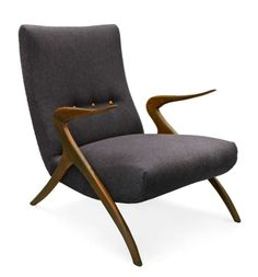 Italian Lounge Chair Midcentury Modern 50's Italy | From a unique collection of antique and modern armchairs at http://www.1stdibs.com/furniture/seating/armchairs/