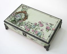 Beautifully embellished cigar box...