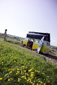 Cool campers - the perfect Cornish get around.