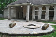 extended patio fire pit - Google Search