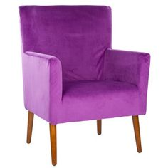 Everett Armchair Purple now featured on Fab.