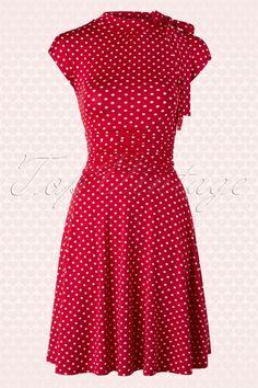 Retrolicious Red Polkadot Bombshell Dress 106 27 14628 20150615 0006W