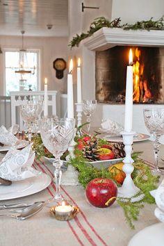 Lovely fireplace: VIBEKE DESIGN: Velkommen til vårt julebord !