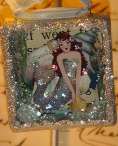 Mermaid Crafts, Seashell Crafts, Beach Crafts, Altered Tins, Altered Art, Mermaid Fairy, Shadow Box Art, Mermaids And Mermen, Fantasy Mermaids