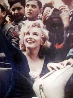 Marilyn attending a charity soccer game at Ebbets Field-1957.