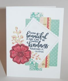 Handmade card by Christine Miller featuring the Kindness Matters stamp set from Verve. #vervestamps