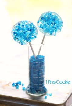 Breaking Bad Rock Candy Science Lollipops and Candy by 1 Fine Cookie, Breaking… Breaking Bad Cupcakes, Breaking Bad Party, Cocktail Desserts, Party Desserts, Dessert Party, Baking Desserts, Cocktails, Drinks, Frozen Birthday Party
