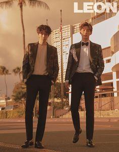 The bromance continues with Ji Soo and Nam Joo Hyuk as joint cover models for the latest issue of Leon magazine.but love their friendship. Korean Celebrities, Korean Actors, Celebs, Ji Soo Nam Joo Hyuk, Color Militar, Ji Soo Actor, Jong Hyuk, Park Hyung, Song Joong