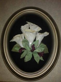 Preserved Wedding Bouquet in a standard silver frame from Lasting Memories Floral Preservation  248.375.7755 www.LMFP. net