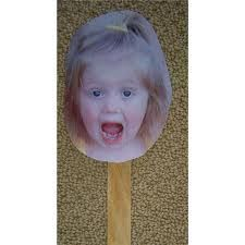 Another craft to do after reading the book Feelings, Feelings, Feelings. (Found on amazon)  Take pictures of your child acting out the feelings in the book.   Glue photos on popsickle sticks.