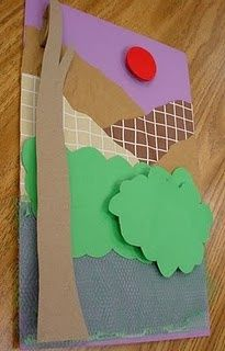 5th grade: abstract relief sculptures