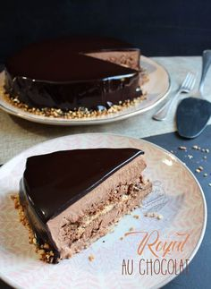 Le Trianon ou royal au chocolat #chocolat #trianon #royal #gateau #iletaitunefoislapatisserie