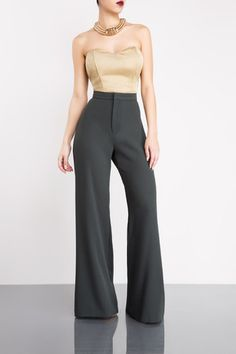 Minus The Business Suit High Waist Pants (Olive)