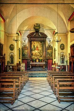 Love the interior of the beautiful church, shot by Joan Carroll: http://fineartamerica.com/featured/church-of-san-francesco-monterosso-joan-carroll.html #italy #churches #5terre via @joancarroll @joan1992