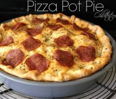 Pizza Pot Pie - a new kind of pot pie recipe