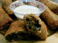 Smoked Turkey Collard Green Egg Rolls