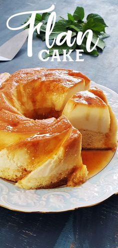 Flan Cake is an irresistible dessert that combines the smooth silky flan with a moist vanilla sponge cake and caramel topping. It is called a magic cake because it it separates while baking, making… Filipino Desserts, Dessert Recipes, Easy Cake Recipes, Baking Recipes, Steak Recipes, How To Make Flan, Comida Latina, Caramel Recipes, Puddings