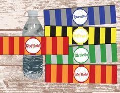 PRINTABLE PDF Harry Potter House Theme Stripe Birthday