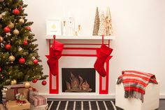 Create a fireplace using washi tape