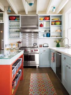 Sunny kitchen   Photo: Eric Roth | thisoldhouse.com | from Color of the Month, April 2014: Celosia Orange