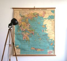A personal favourite from my Etsy shop https://www.etsy.com/listing/581812628/large-vintage-geography-map-school-chart