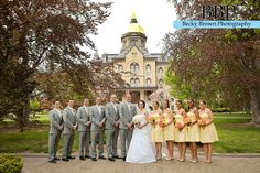 A Yellow and Grey Notre Dame Wedding www.beckybrownphotography.com #notredamewedding #yellowandgraywedding #southbendwedding