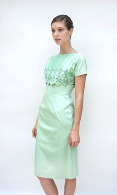 Vintage 1960s Dress  Venus Rising  Seafoam by WildHoneyPieVintage, $110.00