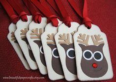 Rudolph Gift Tags Christmas Gift tags  by BeautifulPaperCrafts, $4.95