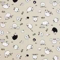 Sweet Sheep Fabric-Stoffe