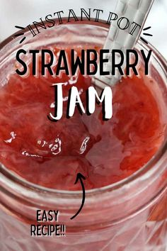 Instant Pot Strawberry Jam is quick and easy to make. The natural flavors are fresh and delicious. It's time to take toast to a whole new level! #strawberryjam #instantpotjam Holiday Recipes, Party Recipes, Strawberry Jam, Barbecue Recipes, Pinterest Recipes, Air Fryer Recipes, Fish And Seafood, Natural Flavors, Queso
