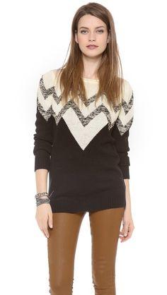 BB Dakota Broderick V Pattern Sweater YUP!