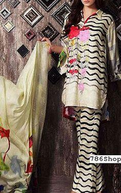Off-white Staple Jacquard Suit   Buy Charizma Pakistani Dresses and Clothing online in USA, UK