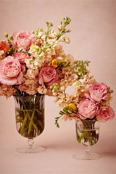 Sundae Vase in Décor View All Décor at BHLDN // Awesome clear vessels for flowers