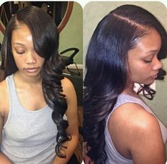 hairstyles with one short side : ... side parts on Pinterest Side part weave, Deep side part and Sew ins