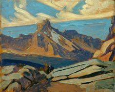 James Edward Hervey MacDonald (1873-1932), Cathedral Mountain, 1927.    oil on paperboard