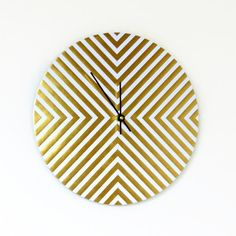 Hey, I found this really awesome Etsy listing at https://www.etsy.com/listing/224950496/unique-wall-clock-trending-decor-gold