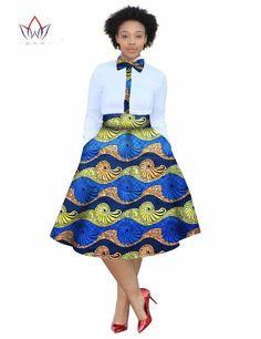 2017 christmas dress Plus Size 2 Pieces African Print Dashiki Shirt Skirt Set Bazin Rche Femme Africa Clothing natural African Wear, African Fashion, Dashiki Shirt, Size 2, Plus Size, Shirt Skirt, Skirt Set, High Waisted Skirt, Natural
