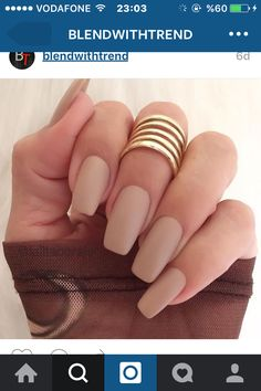 Nude matte gel nails