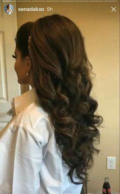 Hermosos peinados - My list of womens hair styles Long Hair Wedding Styles, Wedding Hair And Makeup, Bridal Hair, Hair Makeup, Wedding Beauty, Quince Hairstyles, Bride Hairstyles, Pretty Hairstyles, Quinceanera Hairstyles