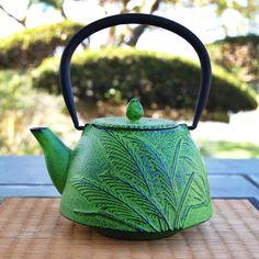 Green Grass Iron Teapot <3
