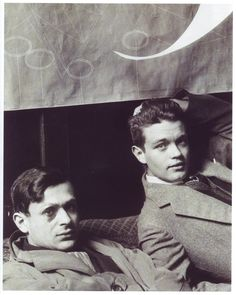 Man Ray, Tristan Tzara and Rene Crevel, 1928, silver salt print.