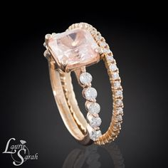 2 carat Padparadscha Sapphire 14kt Rose Gold by LaurieSarahDesigns, $7,543.80