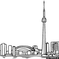 Burj Khalifa Coloring Page For Kids Pages Of Great ...
