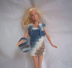 Barbie or Fashion Doll Sheath Dress with Shrug by KarisCrafts