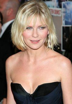 Short Haircut for Round Face Shapes - Kirsten Dunst Short Bob Cut