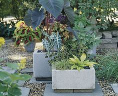 Modern Paver Planters   35 Creative DIY Planters.  Making DIY concrete planters with our leftover pavers .